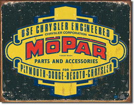 Mopar Logo 1937-1947 Rustic Metal Sign - $20.95
