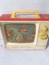 Vintage 1966 FISHER PRICE TOYS Giant Screen Music Box TV - Row Boat London - $9.77