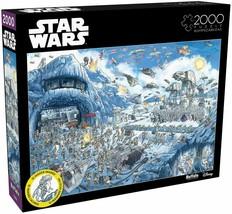 Star Wars 2000 Piece Jigsaw Puzzle Buffalo 26 in x 38 in, THE BATTLE of ... - $29.40