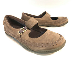 TIMBERLAND Earthkeepers taupe brown leather Mary Jane loafers 7.5 FREE SHIP - $34.60