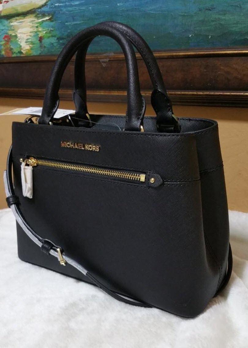f01172369121 Michael Kors Hailee XS Satchel Small Crossbody black Handbag Kellen NWT
