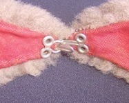 Vintage Fur Collar Gray w Red lining