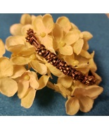 Copper Wired Bracelet with Flower Bead - $20.00
