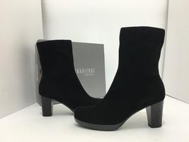 La Canadienne Kate Women's Short Boots Heels Black Suede Waterproof Size... - $158.41
