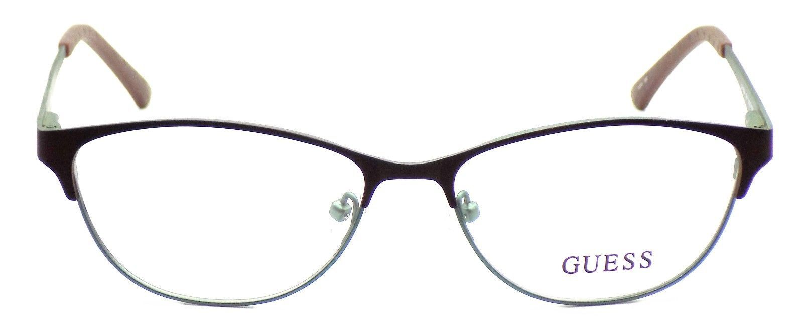 GUESS GU2504 049 Women's Eyeglasses Frames 53-15-135 Satin Brown + CASE image 2