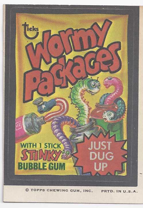 1973/4th S TOPPS WACKY PACKAGE STICKER WORMY PACKAGES - $1.95