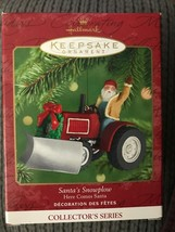 Hallmark Ornament Santa's SnowPlow Here Comes Santa #23 In Series Tractor - $12.95