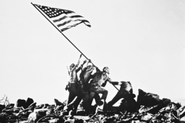 John Wayne in Sands of Iwo Jima classic American flag raising scene 18x2... - $23.99