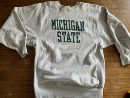 MSU Michigan State Champion Reverse Weave Crewneck Sweatshirt Sz XL Mint... - $47.49