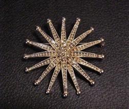 """Estate~ Starburst MONET Signed Brooch Pin Vintage 2"""" - $44.46"""