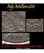 1881-S MORGAN DOLLAR AU-UNC SILVER DOLLAR ESTATE COIN - $288.00