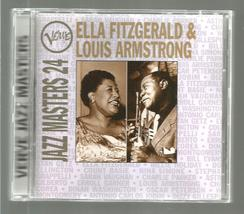 ELLA FITZGERALD & LOUIS ARMSTRONG  * JAZZ MASTERS 24  *  C D - $3.00