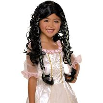 Fairy Tale Princess Child Costume Wig Dark Hair NEW - $12.00