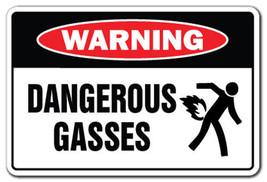 DANGEROUS GASES Warning Sign gag novelty gift f... - $7.42