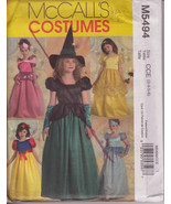 McCall's M5494 Costumes Sewing Pattern Girls sizes 3, 4, 5, 6 Princess a... - $11.00