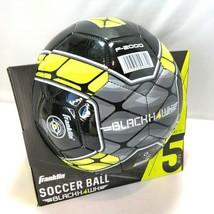 Franklin Sports Blackhawk Soccer Ball Black Yellow Size 5 Ages 13+ F-2000 NIB - $19.74