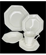 Nikko CLASSIC WHITE 5 Pc Place Setting Japan Dinner Salad Saucer Plates ... - $64.34