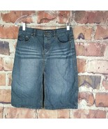 Express Jeans Womens Denim Skirt Size 5/6 Juniors Pencil Pockets Slit - $18.81