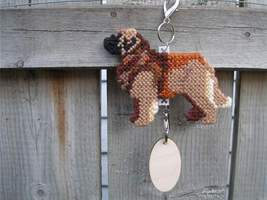 Leonberger crate tag or decor hang anywhere dog art, handmade kennel acc... - $23.00