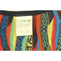 COOGI-sweater-SZ-M-100-silk-cardigan-brilliant-colorful lightweight image 11