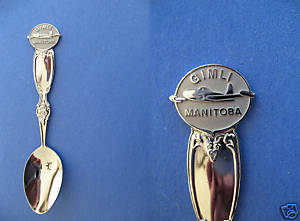 Primary image for GIMLI Manitoba Souvenir Collector Spoon Vintage AIRPLANE Collectible CANADA