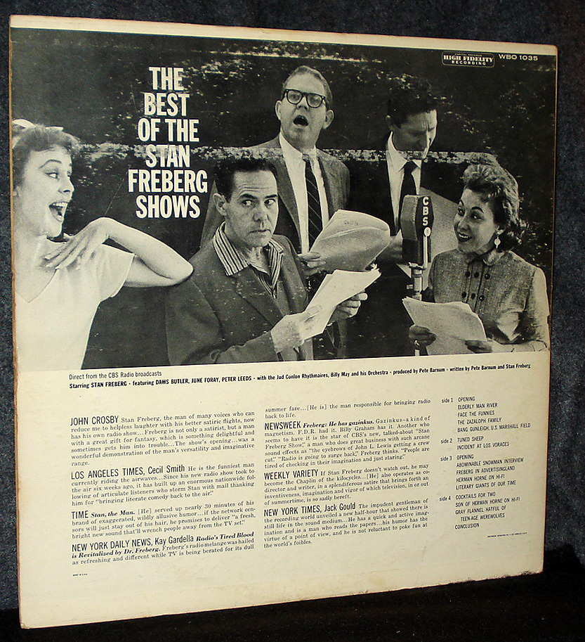 Tune in 'The Best of the Stan Freberg Shows,' a Double-LP for Comedy Collectors