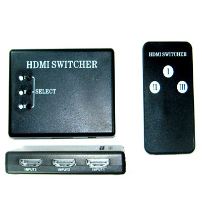 3 Port HDMI Switcher Box selector for HDTV + Remote