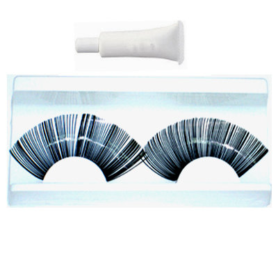 Fancy Shiny CURVE FALSE EYELASHES Eye Lash Black UK