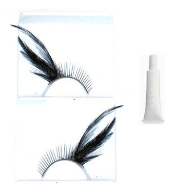 Leather black angle eyelashes1