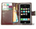 Iphone wallet leather casebrown1 thumb155 crop