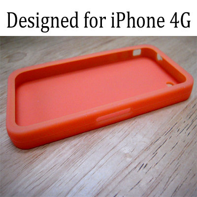 4g silicone case orange2