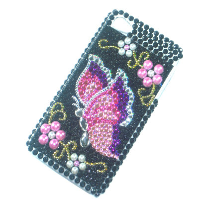 4g bling case butterfly