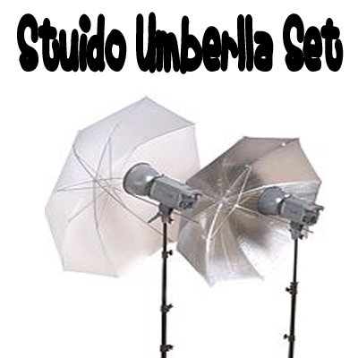 Studio Silver White Reflector Translucent Umbrellas 33""