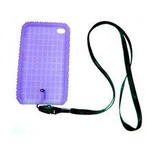 Blue Skin Case for iPod touch 4th w neckstrap strap - $0.87