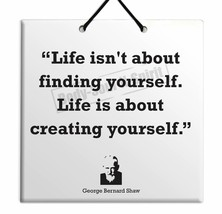 George Bernard Shaw Sale Quote Ceramic Wall Hanging TILE Plaque Home Dec... - $15.97