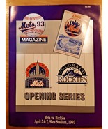 1993 NEW YORK METS Official Score Book Magazine OPENING SERIES Shea Stadium - $9.89