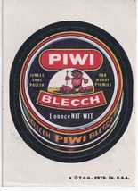 1974/6th S Topps Wacky Package Sticker Piwi Blecch - $1.95