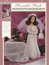 Beautiful Bride Fibre Craft Doll Wedding Clothes Crochet Pattern Booklet FCM468 - $6.92