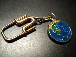 Parthenon Greece Key Chain Parthenon on One Side Greek Map on the Other Side - $7.99