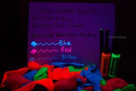 1oz Tekno Bubbles Party Pack- 2x bubbles- 25 UV balloons- 3 Invisible UV Markers - $16.95