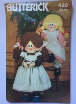 """Butterick 428 23"""" Stuffed Rag Doll & Clothes Vintage Sewing Pattern Cut ... - $6.85"""