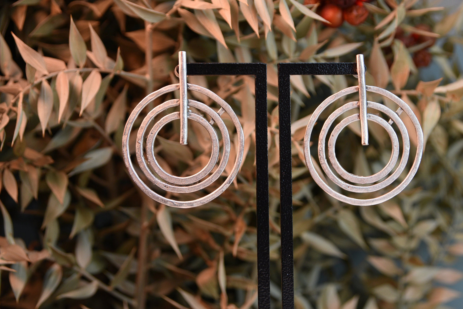 Primary image for Unique Spiral earrings,Fancy gold earrings, Silver Earrings, Minimalist Jewelry,