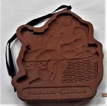 Longaberger Pottery Christmas 1992 Santa Claus Cookie Mold - $9.85