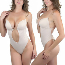 Forms U Plunge Bra Bikini backless Full body shaper Jumpsuits Bodysuit Shapewear - $13.99