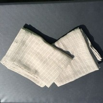 "2 Sheer Grey White Windowpane Curtain Panels Waverly 50% x 85"" Polyester - $24.18"