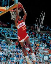 DOMINIQUE WILKINS Signed Atlanta Hawks Slam Dunk 8x10 Photo - SCHWARTZ - ₹4,151.83 INR