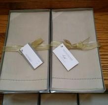 NEW 15x22 guest towels linen/cotton blend,  2 sets of 2, 4 towels total,... - $29.99