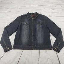 New York & Company Denim Jacket Size Large NY Jeans Zip Up Jean Jacket B... - $35.63