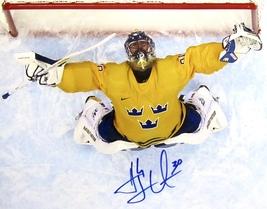 Henrik Lundqvist Hand Signed Autographed Team Sweden 11 X 14 Photo w/COA - $129.99