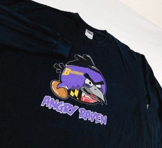 Baltimore Angry Raven Black Long Sleeve T Shirt Sz L - $26.99